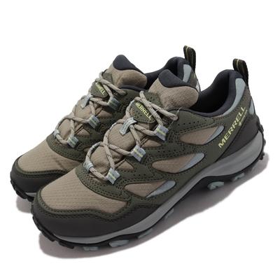 Merrell 戶外鞋 West Rim Sport GTX 女鞋 登山 越野 防水 支撐 避震 耐磨 抓地 褐 綠 ML036566