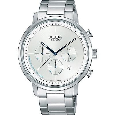 ALBA雅柏 Tokyo Design 原創計時手錶(AT3E03X1)-銀/42mm