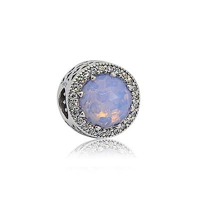 Pandora 潘朵拉 魅力鑲鋯粉水晶 鑲鋯純銀墜飾 串珠