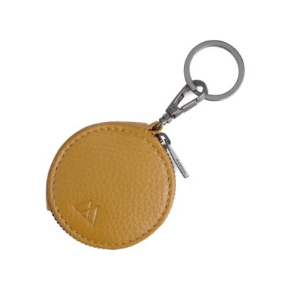 MARKBERG Verna 丹麥手工牛皮維娜鑰匙圈 零錢包(琥珀黃)