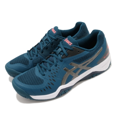 Asics 網球鞋 Gel-Challenger 12 男鞋 亞瑟士 緩衝 穩定 包覆 膠底 運動 藍 黑 1041A045402