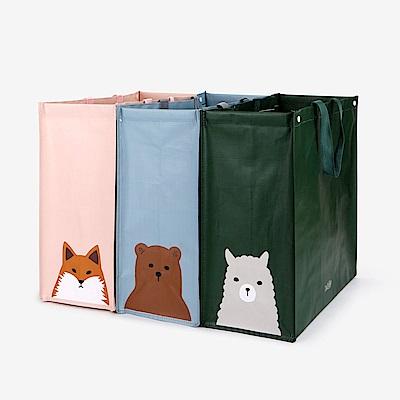 Dailylike 3入防水回收分類袋-01 動物