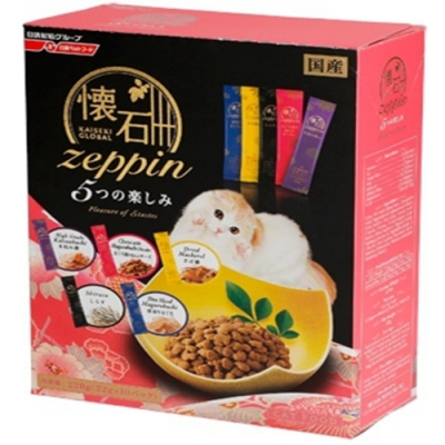 日清懷石zeppi-5Dish懷石極品-5味樂趣貓糧 220克(22克*10小包) 四盒組