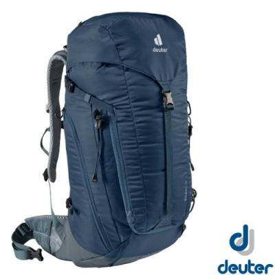 Deuter TRAIL 30L 輕量拔熱透氣健行登山背包_深藍