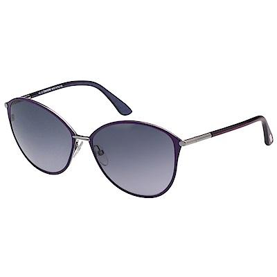 TOM FORD 復古 小貓眼 太陽眼鏡-紫色-TF320