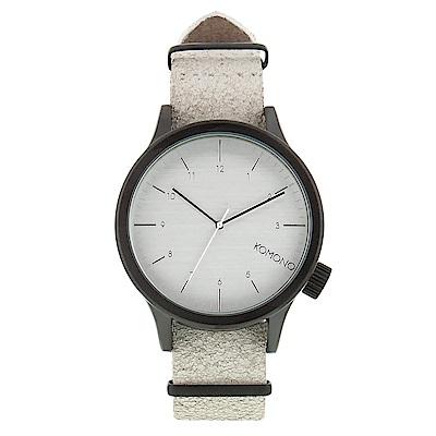 KOMONO Magnus Vintage 腕錶-簡約白/ 46 mm