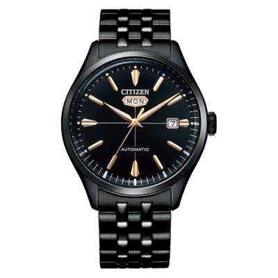 CITIZEN星辰C7 系列Mechanical商務正裝不鏽鋼機械腕錶-黑鋼40.2mm(NH8395-77E)