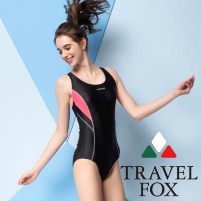 TRAVEL FOX夏之戀大女連身三角泳衣