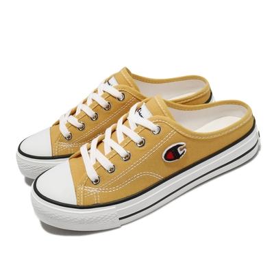Champion 休閒鞋 Canvas Slip 拖鞋 女鞋 懶人鞋 外出 輕便 穿搭推薦 黃 白 WSLS101490