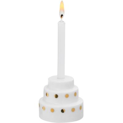 《RADER》燙金點綴蛋糕燭台