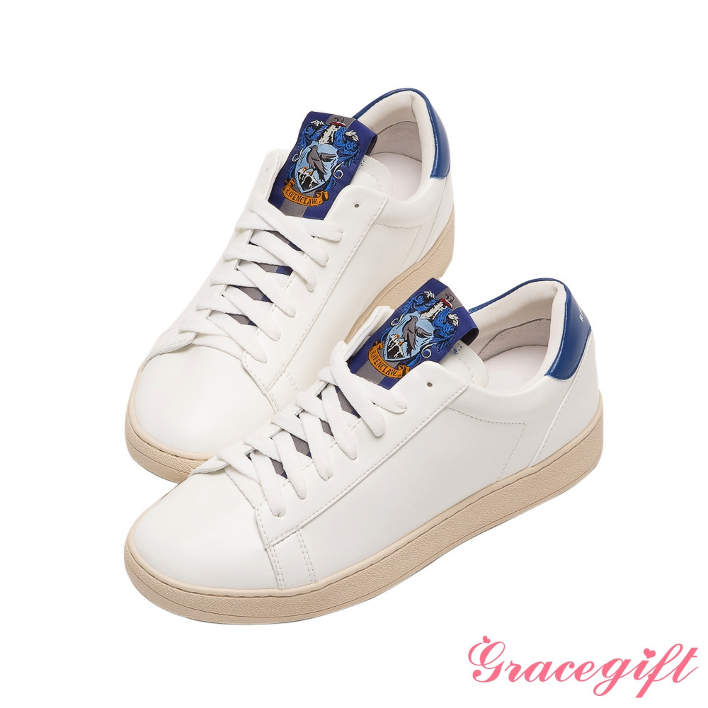 Grace gift-哈利波特雷文克勞學院徽章綁帶休閒鞋 深藍