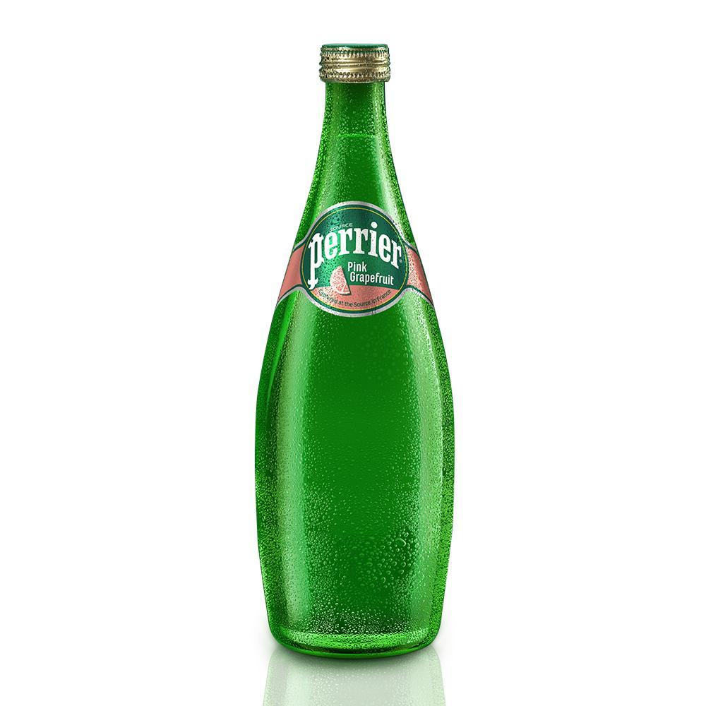 法國Perrier沛綠雅 氣泡天然礦泉水-葡萄柚口味(750mlx12入)