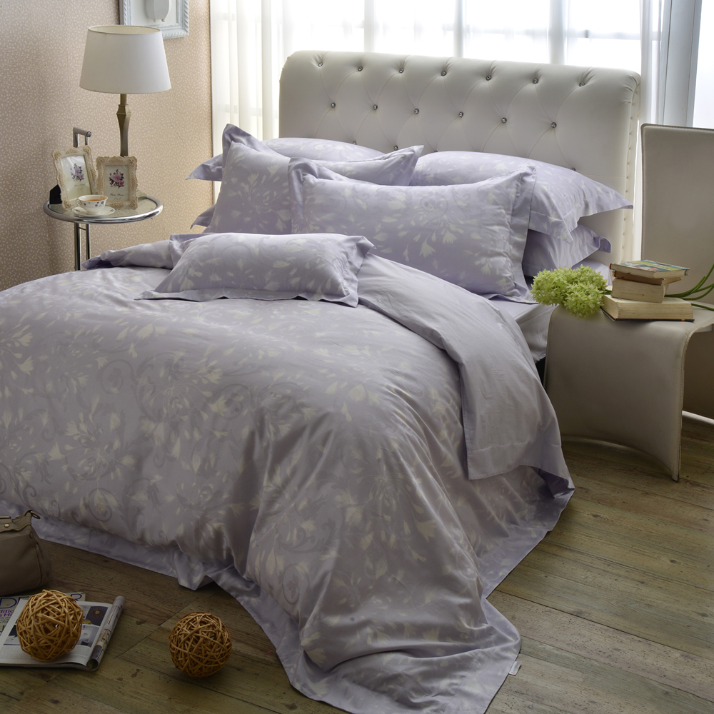 MONTAGUT-普羅旺斯的浪漫-精緻緹花-加大四件式兩用被床包組