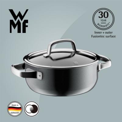 德國WMF FUSIONTEC 低身湯鍋(20CM)(2.4L)(鉑灰色)