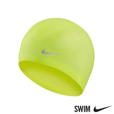 NIKE 矽膠泳帽 運動 機能 泳帽 男女童 黃TESS0106-737