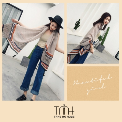 TMH-民族風防曬批肩-2色
