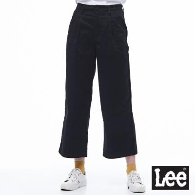 Lee 休閒褲 高腰寬褲 女 黑 彈性
