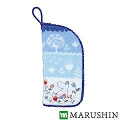 日本丸真 Moomin速吸雨傘水瓶拉鍊收納套-嚕嚕米漸層花園