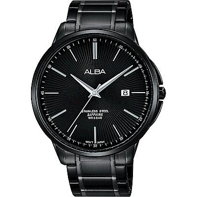 ALBA 雅柏 城市系列時尚手錶(AS9H37X1)-鍍黑/42mm
