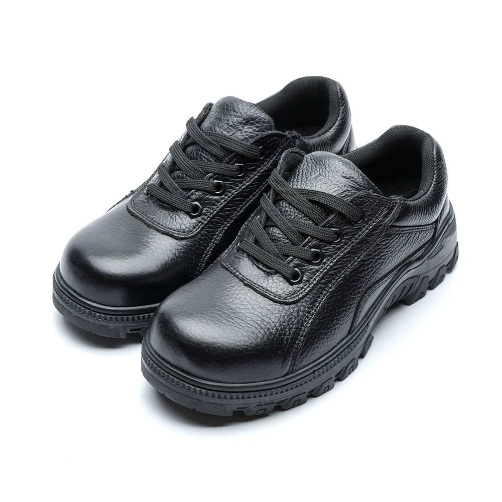 COMBAT艾樂跑男鞋-綁帶皮質工作鞋 鋼頭鞋-黑(FA499)