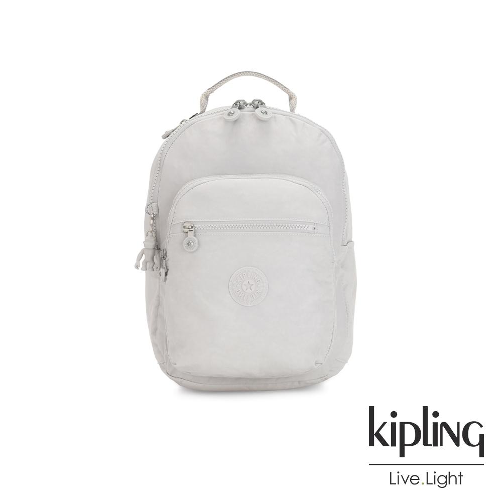 Kipling 探索亮銀灰機能手提後背包-SEOUL S