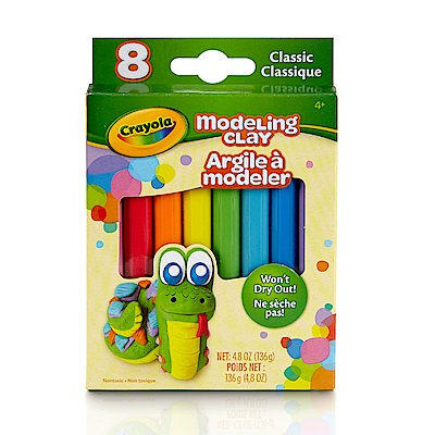 美國crayola 繪兒樂 造型黏土經典色8色(3Y+)