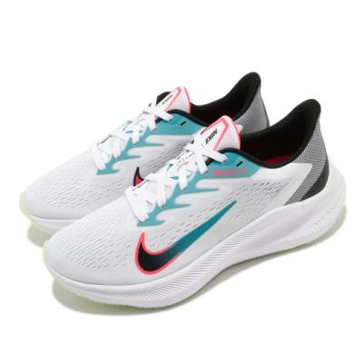 Nike 慢跑鞋 Zoom Winflo 7 運動 女鞋 氣墊 舒適 避震 路跑 健身 球鞋 白 綠 CJ0302102