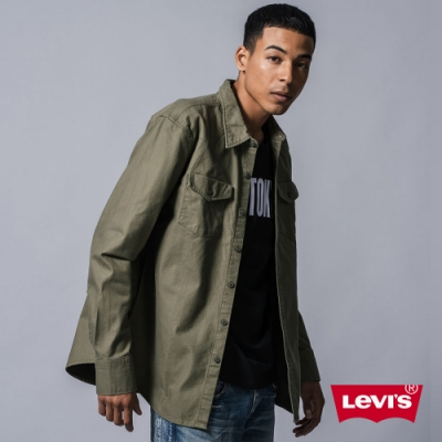 Levis X outerknown 男款 牛仔襯衫 休閒版型 軍綠