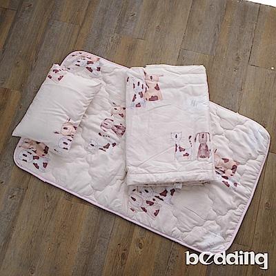 BEDDING-幼稚園必備-3M專利+頂級天絲-兒童專用睡墊三件式-狗狗與少年