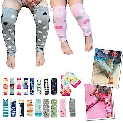 日本同步【適合8M~5Y】長款-兒童 護膝 爬行襪套 kiret-超值3雙