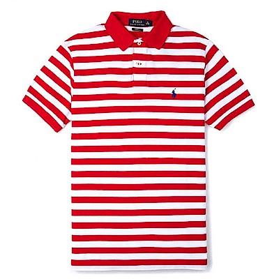 Polo Ralph Lauren 經典小馬條紋Polo衫(Custom)-紅白色