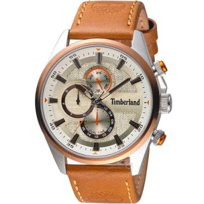 Timberland 天柏嵐 雙時區休閒皮帶錶(TBL.15953JSTBN/04)