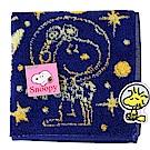 SNOOPY史努比 宇宙星空圖案 小方巾(藍色)