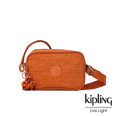 Kipling 焦糖拿鐵色素面側背方包-DEE