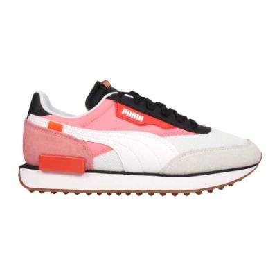 PUMA FUTURE RIDER NEW TONES女復古慢跑運動鞋-麂皮 37338603 白粉黑橘