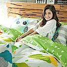 戀家小舖 / 雙人床包枕套組  遇見朵朵-兩色可選  100%精梳棉  台灣製