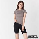 STL Leggings Free Line 5 韓國運動機能緊身壓力褲 自由曲線5分黑