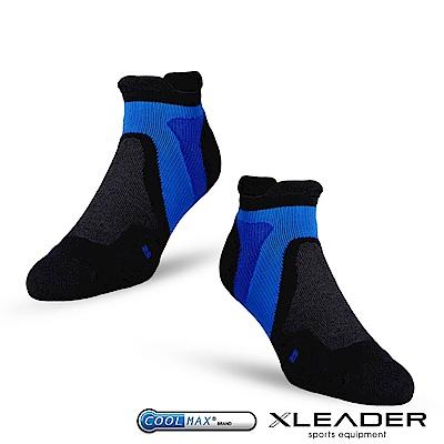 LEADER ST-02 X型繃帶加厚耐磨避震短襪除臭運動襪 男款 黑藍 - 急