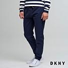 DKNY 男款 休閒運動風抽繩純色長褲 藍