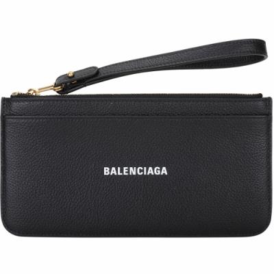 BALENCIAGA EVERYDAY 字母小牛皮手腕帶卡片夾/錢包(黑色)