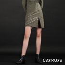 L'ARMURE 女裝 ECO-lor 斜條造型 開衩裙