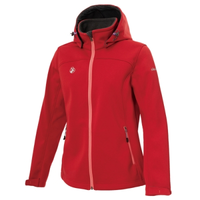 【WILDLAND荒野】女三層貼防風保暖功能外套紅色