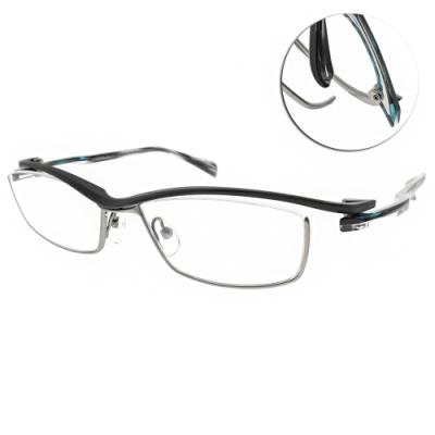 JAPONISM  光學眼鏡 質感流線眉框款/霧槍綠-霧槍 #JN658 C02