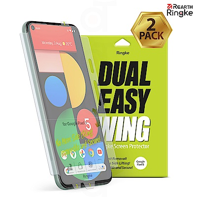 【Ringke】Rearth Google Pixel 5 [Dual Easy Wing] 易安裝側邊滿版螢幕保護貼 - 二片裝