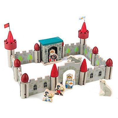 Tender Leaf Toys木製家家酒玩具-灰狼騎兵城堡組建構場景玩具組