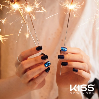 KISS New York-Press&Go頂級光療指甲貼片-靛藍爵士(KPNS03K)