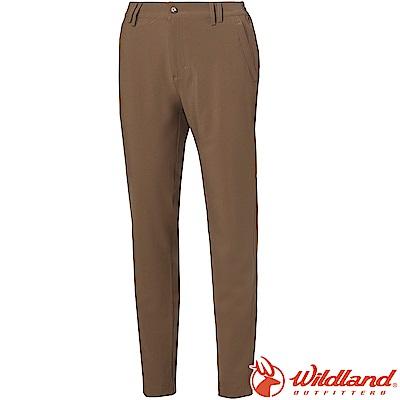 Wildland 荒野 S1381-63深卡其 女四向彈性抗UV長褲