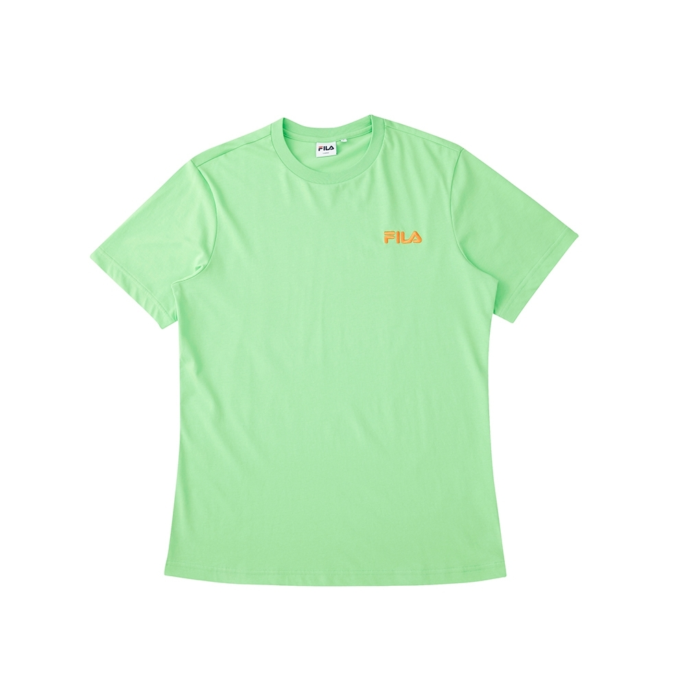 FILA 短袖圓領T恤-螢光綠 1TEU-1216-GN