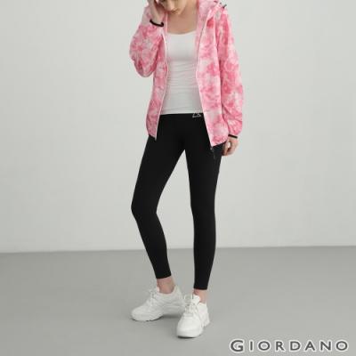 GIORDANO 女裝G-Motion高彈力緊身運動褲 - 01 標誌黑