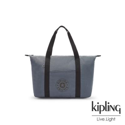 Kipling 高雅岩石霧藍灰簡約手提肩背托特包-ART M LITE